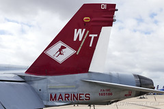 """McDonnell Douglas F/A-18C Hornet of Marine Fighter Attack Squadron 232 (VMFA-232) """"Red Devils"""" from MCAS Miramar (Norman Graf) Tags: 165186 vmfa232 aircraft 3rdmaw airplane 2017mcasmiramarairshow mag11 boeing fa18 fa18c airshow cagbird usmc marineaviation reddevils 3rdmarineaircraftwing attack carrierairgroup f18 f18c fighter hornet jet mcasmiramar marineaircraftgroup11 marinefighterattacksquadron232 marines mcdonnelldouglas plane unitedstatesmarinecorps wt01"""