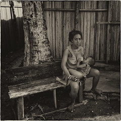 Malagasy village / Малагасийская деревня (dmilokt) Tags: остров island деревня village dmilokt чб bw черный белый black white сепия sepia портрет portrait