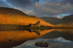 Golden Awe (images@twiston) Tags: loch awe reflections super still water mirror mirrorlike reflection ruins ruin castle kilchurn lochawe dalmally argyllandbute argyll mountains imagestwiston beautiful morning scottish scotland mountain hill hills lake serene calm dawn golden hour light sunshine a85 remote highlands scottishhighlands highlandsofscotland valley landscape glen western schottland caledonia ecosse escoia alba medieval argyllbute atmospheric tranquil mystic magical historicscotland sunrise