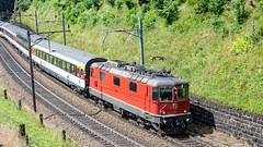 SBB Re 4'4 2 11116 Top Level, Wassen 09 July 2015 (2) (BaggieWeave) Tags: switzerland swiss swisstrains swissrailways gotthardrailway gotthard gotthardbahn wassen re44