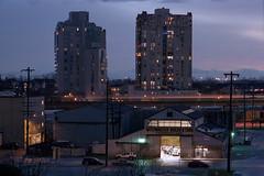 New West Boiler & Tank (Orion Alexis) Tags: film 35mm analog cityscape landscape urban street vancouver new westminster night evening blue hour kodak portra 400 fujifilm tx1