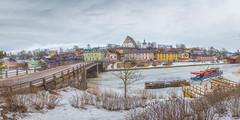 Porvoo Old Town (Jyrki Salmi) Tags: jyrki salmi porvoo oldtown finland winter cloudy day panorama