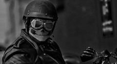 Hell Rider (Tim @ Photovisions) Tags: xt2 rider monochrome fuji cycle nebraska fujifilm gagecounty beatrice blackandwhite harley motorcycle mirrorless