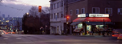 Dundas Market (Orion Alexis) Tags: film 35mm analog panorama widescreen cinematic retro vintage classic corner store market grocery vancouver evening blue hour long exposure