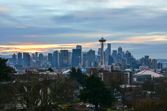 New Year's Day Seattle 4 (C.M. Keiner) Tags: seattle washington usa city cityscape skyline mountains pacific northwest puget sound 2019 new years day sunrise urban clouds silhouette