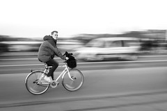 Concerned Citizen (Mental Shutter) Tags: bicycle culture copenhagen denmark panning rx100 sony bike bw 1
