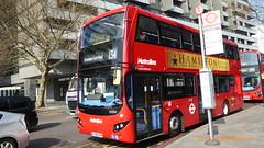 P1150375 VMH2543 LF68 PXV at Warren Street Station Hampstead Road Euston London (LJ61 GXN (was LK60 HPJ)) Tags: metroline volvob5lhybrid mcv evoseti mcvevoseti 105m 10490mm vmh2543 lf68pxv nb921