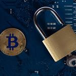 Padlock with golden Bitcoin thumbnail