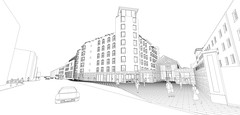 New College Entrance and elevations etc to Pearse Street