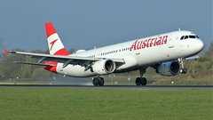 OE-LBE (AnDyMHoLdEn) Tags: austrian a321 staralliance lufthansagroup egcc airport manchester manchesterairport 05r