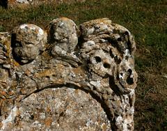 St Peter and St Paul, Lavenham (beery) Tags: lavenham suffolk england church medieval mediaeval gothic stpeterandstpaul grave headstone skull graveyard cemetery
