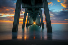 Venice pier (dannygreyton) Tags: sunset longexposure longexposureshot usa florida venice ocean sea canon canong1xiii beach