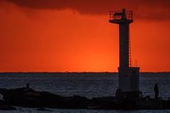 灯台と夕景 (milk777) Tags: 船形 夕景 灯台