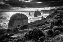 P2252180-Edit Gables to 12 Apostles-2 (Dave Curtis) Tags: victoria greatoceanroad 12 apostles blackandwhite 2014 australia em5 greatoceanwalk omd olympus places september