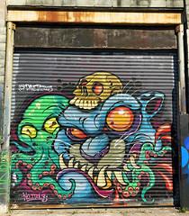 Fresh Sushi by David Tevenal (wiredforlego) Tags: graffiti mural streetart urbanart aerosolart publicart shutter williamsburg brooklyn newyork nyc ny davidtevenal