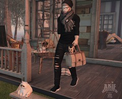 A picture is a poem without words (akif611 Resident) Tags: lob shoes elemens tshirt pants blankline signature slphotograpy swallow secondlife stealthic clefdepeau model glasses cat bag autunm home slblogger