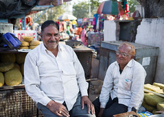 Jaggery Brothers (phil.w) Tags: pentax k1 limited lens india rajasthan bundi market vendor jaggery sugar smiling laughing happy brothers portrait candid street fa31 31mm smcpfa31mmf18
