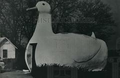 1984 Press Photo The Big Duck laid an egg when it was first built on Long Island (Mémoire2Cité vol 27) Tags: 1984 press photo the big duck laid an egg when it was first built long island
