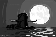 Submariner dream (yuriye) Tags: сон подводник fishing submariner dream submarine sketch draw drawing art digitalart moon navy digitaldrawing moonlight nuclearsubmarine рыбалка морскаярыбалка северныйфлот ксф треска луна поводнаялодка скетч рисунок эскиз 23февраля 667а проект667 yuriye yuryelysee навага