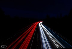 Wherever There Is Light One Can Photograph (CJD imagery) Tags: nightphotography night winter longexposurephotography longexposure canonefs18135mmf3556isstm canoneos80d lighttrails motorway cars road outdoors m11 essex elsenham england gb greatbritain uk unitedkingdom