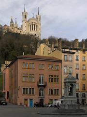 Place Saint-Jean (jrw080578) Tags: trees church buildings france lyon