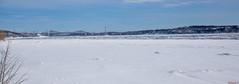 Panorama des ponts de Québec et du fleuve Saint-Laurent en hiver - Canada - 9723 (rivai56) Tags: panorama des ponts de québec et du fleuve saintlaurent en hiver quebec city bridges st lawrence river winter canada