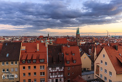 Above the roofs of Nuremberg (Betrachtungsweisen) Tags: eosm50 canon nürnberg nuremberg bayern deutschland germany city stadt himmel sky wolken clouds viewpoint aussicht kaiserburg