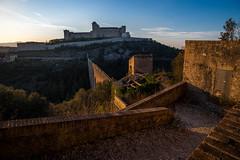 | Fortness way | (valerio.clementi) Tags: italy umbria spoleto rocks fortress albornoz sunset landscape pentax pentaxk1 20mm fa2035