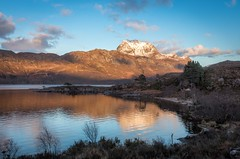 Slioch in the Loch (yabberdab) Tags: mountain loch scotland reflections