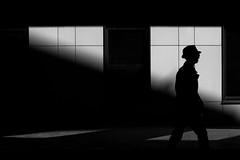 (_storysofar_) Tags: streetphotography hat man people walking light shadows blackandwhite monochrome moscow russia fujifilm silhouette
