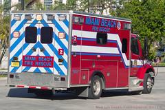 Miami Beach Ambulance (Martijn Groen) Tags: miamibeach miami unitedstates usa florida november 2017 ambulance ems rescue firedepartment vehicle emergency freightliner