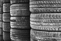 Stacks of Τires (George Tzanis) Tags: stack stacks old tyres tires tire tyre vehicle bw black white blackandwhite blackwhite mono monochrome abstract abandoned perspective symmetry geometrical rows columns street urban exploration art sony sonya7ii sonyfe2870mmf3556oss ilce7m2 a7ii a7m2 wheel wheels