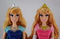 2015 vs 2018 Disney Parks Aurora Limited Edition 17 Inch Dolls - Side by Side (drj1828) Tags: disneyland purchase princess aurora sleepingbeauty pink disneyparks diamondcastlecollection 17inch doll collectible limitededition deboxed 2018 2015 60thanniversary