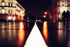 Night at the Opera (ewitsoe) Tags: autumn street warszawa winter erikwitsoe erikwitsoecom holidays poland warsaw night wet rain snow cold evening afterdark hours late bokeh people crowd celebratuon