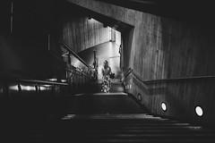 Summerdress (Zesk MF) Tags: bw black white street dress mono zesk cologne strase candid x100f fuji stairs steps subway