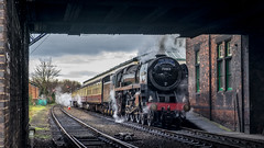 The South Yorkshireman (Peter Leigh50) Tags: fujifilm fuji xt10 train great gcr central railway oliver cromwell loughborough railroad rail track steam station locomotive engine