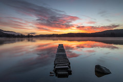 Dawn at Kinlochard (raymond_carruthers) Tags: sunrisecolours morning landscapephotography scotland lochs lochard trossachs sunrise water scottishlandscape jetty longexposure lomondandtrossachsnationalpark scottish landscape longexposurephotography