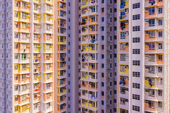 Sherbert Density II - The Block Tower - Aerial Hong Kong (tobyharriman) Tags: 2018 hongkong abstract aerial apartments blocktower china complex drone estates highrise homes housing kowloon living photography population publichousing rental residences skyscraper towers