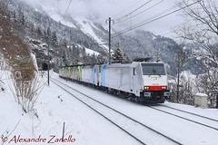 Railpool: BR 186 502, Felsenburg (CH) (Alexandre Zanello) Tags: br186 re486 re485 traxx bombardier f140ac1 f140ms2e railpool bls cargo felsenburg blauseemitholz lötschberg lötschbergbahn nordrampe alpes alpen alpi alps suisse schweiz svizzera svizra switzerland