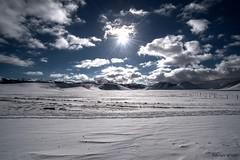 piano grande controluce, castelluccio (Fabrizio Diletti (Fermo, Italia)) Tags: light shadow snow white mountain backlight