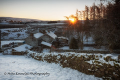 Nettle Hall winter sunrise (mikeknowles60) Tags: sunrise snow cumbria ndfilter northpennines alstonmoor aonb farm smallholding