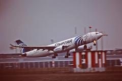 Berlin SXF 5.2.2019 Egyptair A 330-300 (rieblinga) Tags: berlin sxf schönefeld 522019 start egyptair a 330300 airbus analog canon eos 3 sigma 150600 c agfa ct precisa 100 e6 diafilm