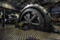 Big Wheel (Fine ArtFoto) Tags: urbex artfoto gestern dream wwwfineartfotocom urban exploration urbexart urbandecay lost place lostplaces lostplace decay decaying discard discarded old oblivion alt abandoned forgotten vergessen verlassen derelict aufgegeben rotten verottet dinosaur dinosaurier wheel bigwheel industrie industry industrial steelworks stahlwerk steel mill gebläsehalle