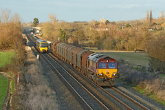 66075 Class 66/0 (Roger Wasley) Tags: 66075 class66 ews db cargo diesel locomotive gloucestershire trains railway uk ashchurch station winter