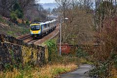 Down The Lane (whosoever2) Tags: uk united kingdom gb great britain england nikon d7100 train railway railroad march 2019 tpe transpennine express dewsbury yorkshire 9e11 liverpool newcastle stone wall