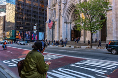5th Avenue, Manhattan, NYC (TMStorari) Tags: newyorkcity newyork 5th 5thavenue streetphotography usa avenue urban cityscape street city città manhattan america fifth explore people stpatrickscathedral cathedral saint patrick roadsigns flag cities world