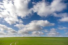 Road to nowhere (chtimageur) Tags: clouds nuages wolken blue sky blauwe lucht mooi landschap landscape green vert paysage joli hike promenade nord france canon 6d mark ii voigtlander 20 mm skopar