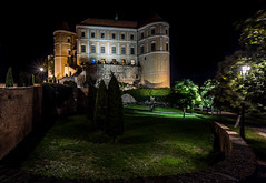 Night view of Mikulov, South Moravia, Czech republic (PhotoVision by Pavel Rezac) Tags: agriculture architecture autumn beautiful bottle building castle chapel church city country cultivation cultural czech destination europe european farm fortress garden hill historic historical history landmark landscape medieval moravia old outdoor panorama red rock romantic roof south summer sunny sunset tourism touristic tower town travel unesco view vineyard viniculture white wine