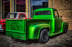 Customized FORD pickup truck - rear view (Peters HDR hobby pictures) Tags: petershdrstudio hdr ford truck classictruck customcar customized pickup pickuptruck green lkw transporter grün classicremise