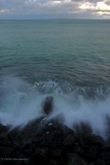 3KB12251a_C_2019-01-22 (Kernowfile) Tags: pentax cornwall cornish lambethwalk stives wave water breakingwave spray foam sea sky cloud bay cliffs rocks coast clouds